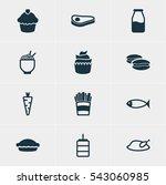 vector illustration of 12... | Shutterstock .eps vector #543060985