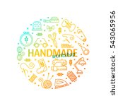 vector hand made icons set  ... | Shutterstock .eps vector #543065956
