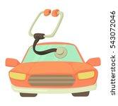 car treatment icon. cartoon... | Shutterstock .eps vector #543072046