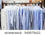 closeup photo of men's shirts... | Shutterstock . vector #543075622