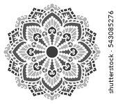mandala. vector ethnic oriental ... | Shutterstock .eps vector #543085276