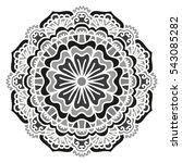 mandala. vector ethnic oriental ... | Shutterstock .eps vector #543085282