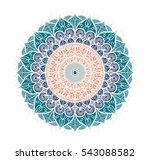 hand drawn mandala in arabic ... | Shutterstock .eps vector #543088582