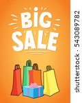 shopping package with text big... | Shutterstock .eps vector #543089782