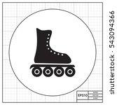 roller blade icon | Shutterstock .eps vector #543094366