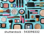 set of decorative cosmetics on... | Shutterstock . vector #543098332