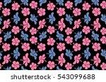 bright hawaiian seamless...   Shutterstock . vector #543099688