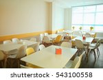 Stock photo cafeteria in modern school 543100558