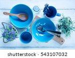 kitchen utensils with flowerpot ...   Shutterstock . vector #543107032