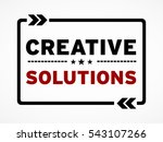 creative solutions | Shutterstock . vector #543107266