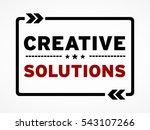 creative solutions   Shutterstock . vector #543107266