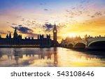 big ben and houses of... | Shutterstock . vector #543108646
