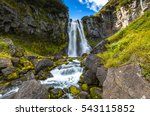 Waterfall Mountain Landscape