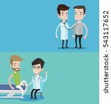 two medical banners with space... | Shutterstock .eps vector #543117652