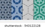 set of summer floral ornament.... | Shutterstock .eps vector #543122128