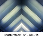 luminous striped structure....   Shutterstock . vector #543131845