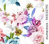 seamless background pattern of... | Shutterstock .eps vector #543133792