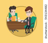 businessmen talking on business ... | Shutterstock .eps vector #543134482