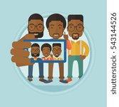 three happy african american... | Shutterstock .eps vector #543144526