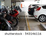 Car And Motorcycle Parking Area