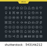 set vector line icons in flat... | Shutterstock .eps vector #543146212
