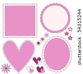 romantic label or frame...   Shutterstock . vector #54315244