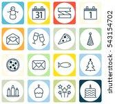 set of 16 celebration icons....   Shutterstock .eps vector #543154702
