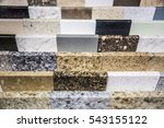 colorful kitchen counter top... | Shutterstock . vector #543155122