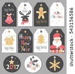 set merry christmas and new... | Shutterstock .eps vector #543156586