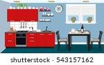 modern cozy kitchen interior...