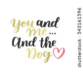 dog adoption hand written... | Shutterstock .eps vector #543161596