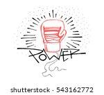 hand drawn vector illustration... | Shutterstock .eps vector #543162772