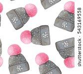 watercolor seamless pattern... | Shutterstock . vector #543169558