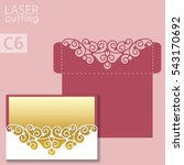 laser cut wedding invitation... | Shutterstock .eps vector #543170692