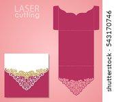 die laser cut wedding card... | Shutterstock .eps vector #543170746