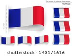 flag of france is embroidered... | Shutterstock .eps vector #543171616