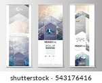 set of roll up banner stands ... | Shutterstock .eps vector #543176416