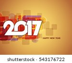 happy new year 2017 background...   Shutterstock .eps vector #543176722
