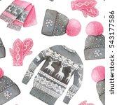 watercolor seamless pattern... | Shutterstock . vector #543177586