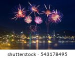 Colorful Fireworks Display Over ...