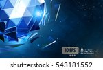 the glowing blue polygonal... | Shutterstock .eps vector #543181552