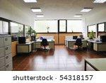 bright empty office indoor with ... | Shutterstock . vector #54318157