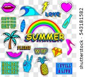patches summer   vector... | Shutterstock .eps vector #543181582