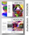 business templates for bi fold... | Shutterstock .eps vector #543183658