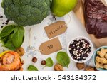 healthy food  sources of folic... | Shutterstock . vector #543184372