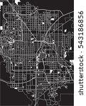 black   white vector map of las ... | Shutterstock .eps vector #543186856