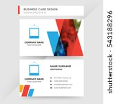 template of business card for... | Shutterstock .eps vector #543188296