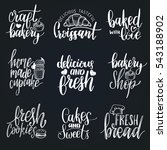 vector set of vintage bakery... | Shutterstock .eps vector #543188902