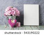 pink carnation flower in zinc...   Shutterstock . vector #543190222