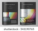 business templates for brochure ... | Shutterstock .eps vector #543190765